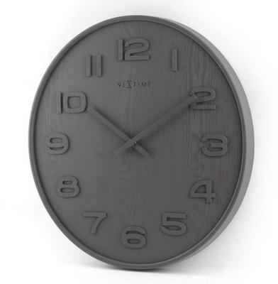NeXtime Wood Wood Medium Clock - Grey image 3