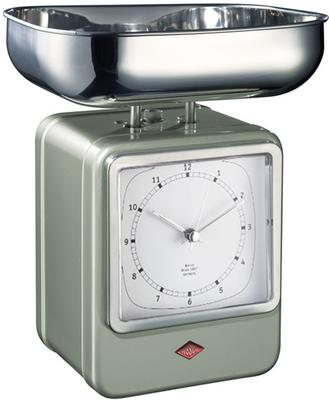 Wesco Retro Scales with Clock - New Silver image 2