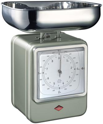 Wesco Retro Scales with Clock - New Silver