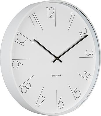 Karlsson Elegant Numbers Clock - White [D] image 2