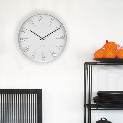 Karlsson Elegant Numbers Clock - White [D] image 3