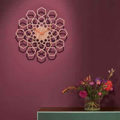 Karlsson Sunshine Hexagon Clock - Wood image 3