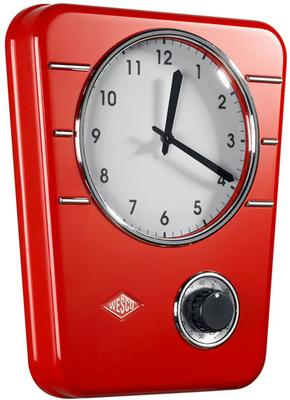 Wesco Classic Line Kitchen Clock - Red