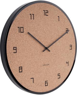 Karlsson Modest Cork Wall Clock - Black image 2