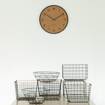 Karlsson Modest Cork Wall Clock - Black image 3