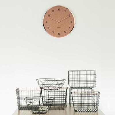 Karlsson Modest Cork Wall Clock - Copper image 3