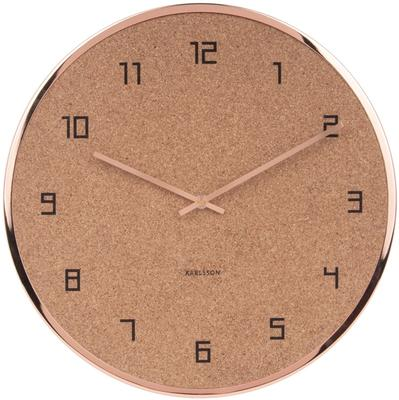 Karlsson Modest Cork Wall Clock - Copper [D]
