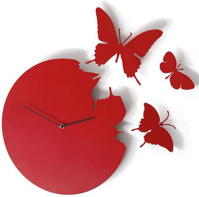 Butterfly Clock - Red