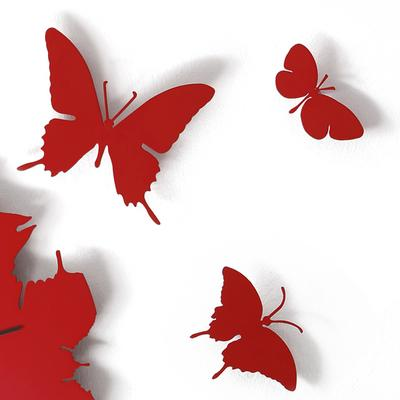 Butterfly Clock - Red image 2