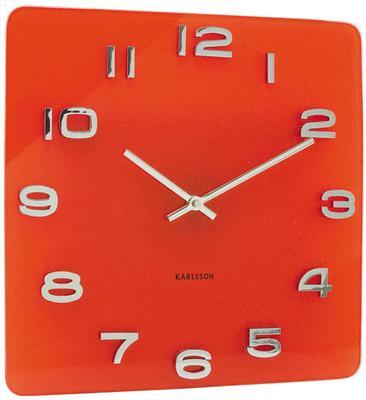Karlsson Red Vintage Glass Clock