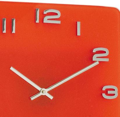 Karlsson Red Vintage Glass Clock image 2
