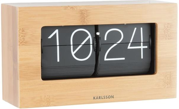 Karlsson Boxed Flip Clock Small - Bamboo