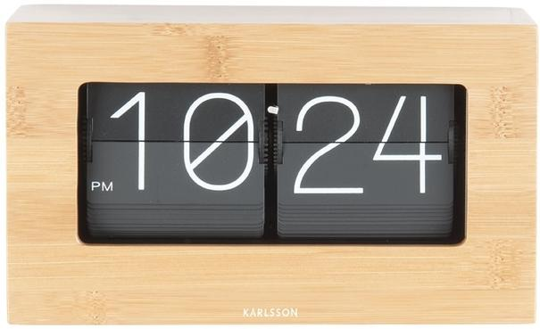Karlsson Boxed Flip Clock Small - Bamboo image 2