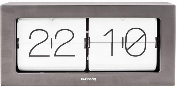 Karlsson Boxed Flip Clock Large - Gun Metal image 2