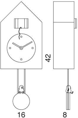 Progetti Freebird Pendulum Clock - White image 5