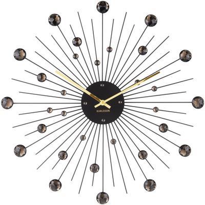 Karlsson Sunburst Large Wall Clock - Black
