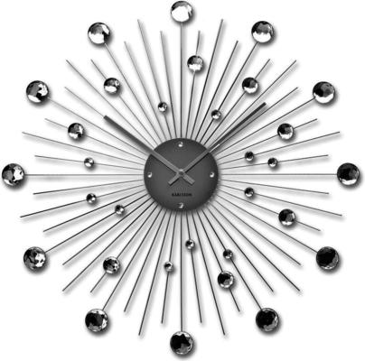 Karlsson Sunburst Large Wall Clock - Silver