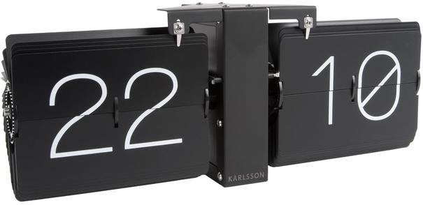 Karlsson Flip Clock Minimal - Black