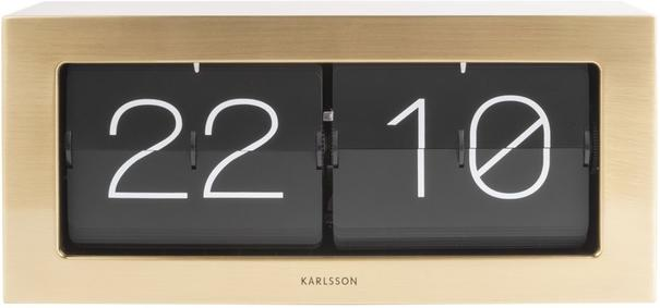 Karlsson Boxed Flip Clock Large - Gold image 2
