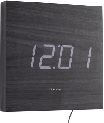 Karlsson Square LED Wall Clock - Black