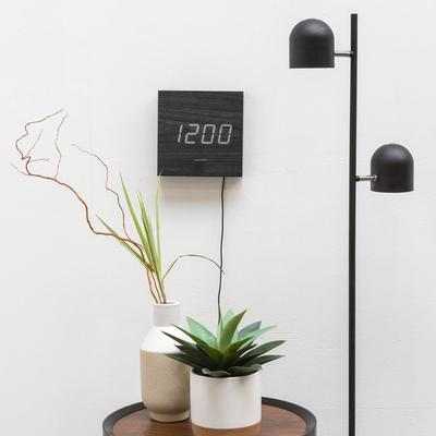 Karlsson Square LED Wall Clock - Black image 2