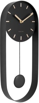 Karlsson Pendulum Charm Wall Clock - Black
