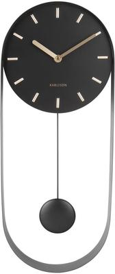 Karlsson Pendulum Charm Wall Clock - Black image 2