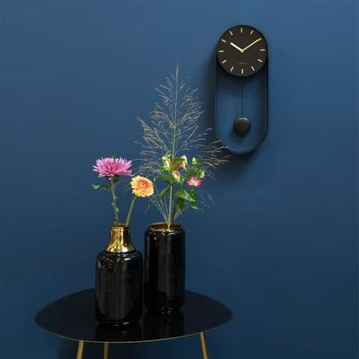 Karlsson Pendulum Charm Wall Clock - Black image 3