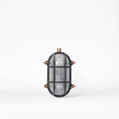 CAGED WALL LIGHT – BLACK & BRASS image 4