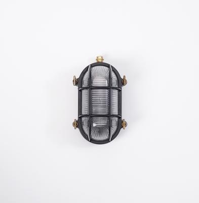 CAGED WALL LIGHT – BLACK & BRASS
