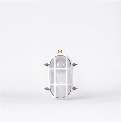 CAGED WALL LIGHT – WHITE & BRASS image 3