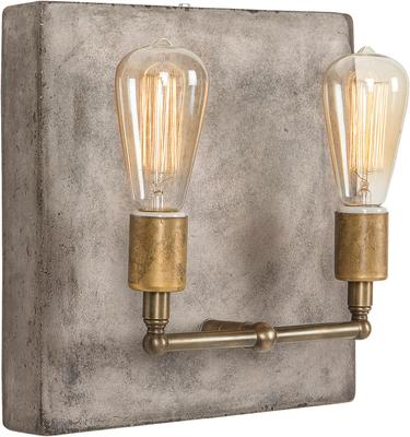 Cameron Double Wall Light Concrete Square Back