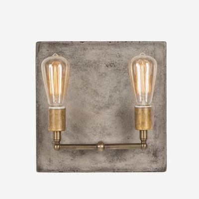 Cameron Double Wall Light Concrete Square Back image 3