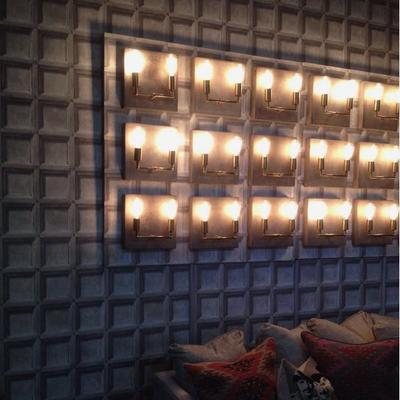Cameron Double Wall Light Concrete Square Back image 5