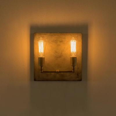 Cameron Double Wall Light Concrete Square Back image 7