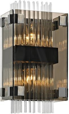 Fortune Grey Smoked Glass Wall Sconce