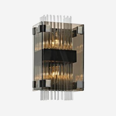 Fortune Grey Smoked Glass Wall Sconce image 2