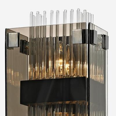 Fortune Grey Smoked Glass Wall Sconce image 3