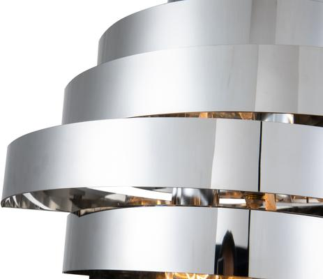 Volcano Ribbon Wall Lamp in Polished Gold or Steel image 6