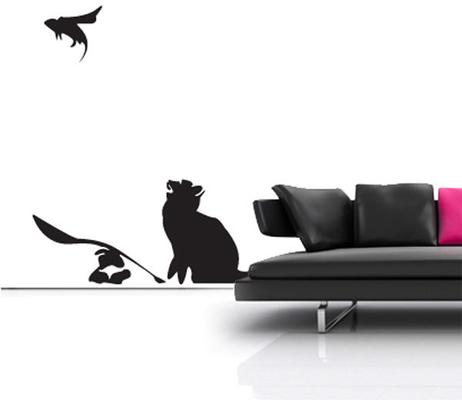 Banksy Cat & Mouse Wall Sticker