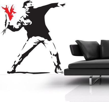 Banksy Hooligan Wall Sticker
