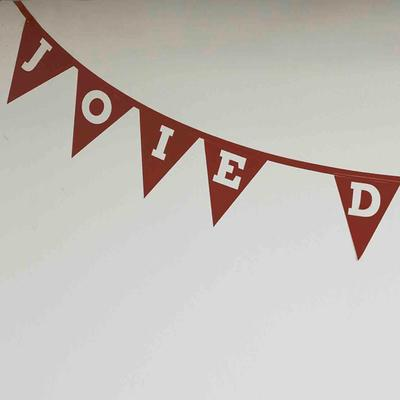 Joie Bunting Wall Sticker image 2
