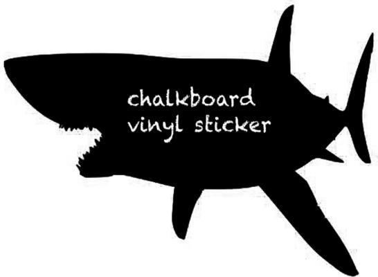 Shark Blackboard Wall Sticker