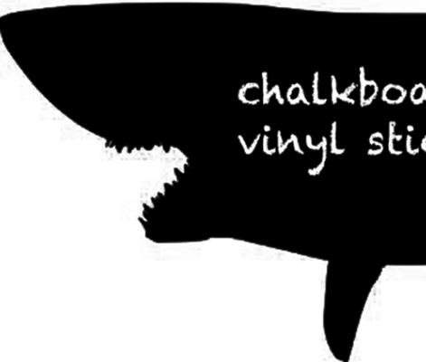 Shark Blackboard Wall Sticker image 2