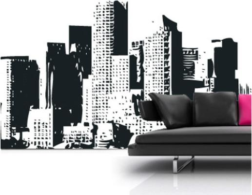 New York Cityscape Wall Sticker