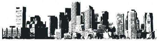 New York Cityscape Wall Sticker image 2
