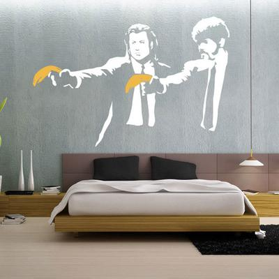 Banksy Pulp Fiction Wall Sticker