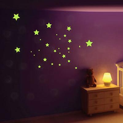 Glow in the Dark Star Mix Wall Stickers image 2
