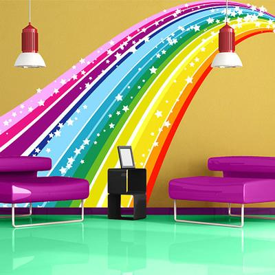 Rainbow Bridge Wall Sticker