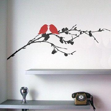 2 Birds on a Branch Wall Sticker